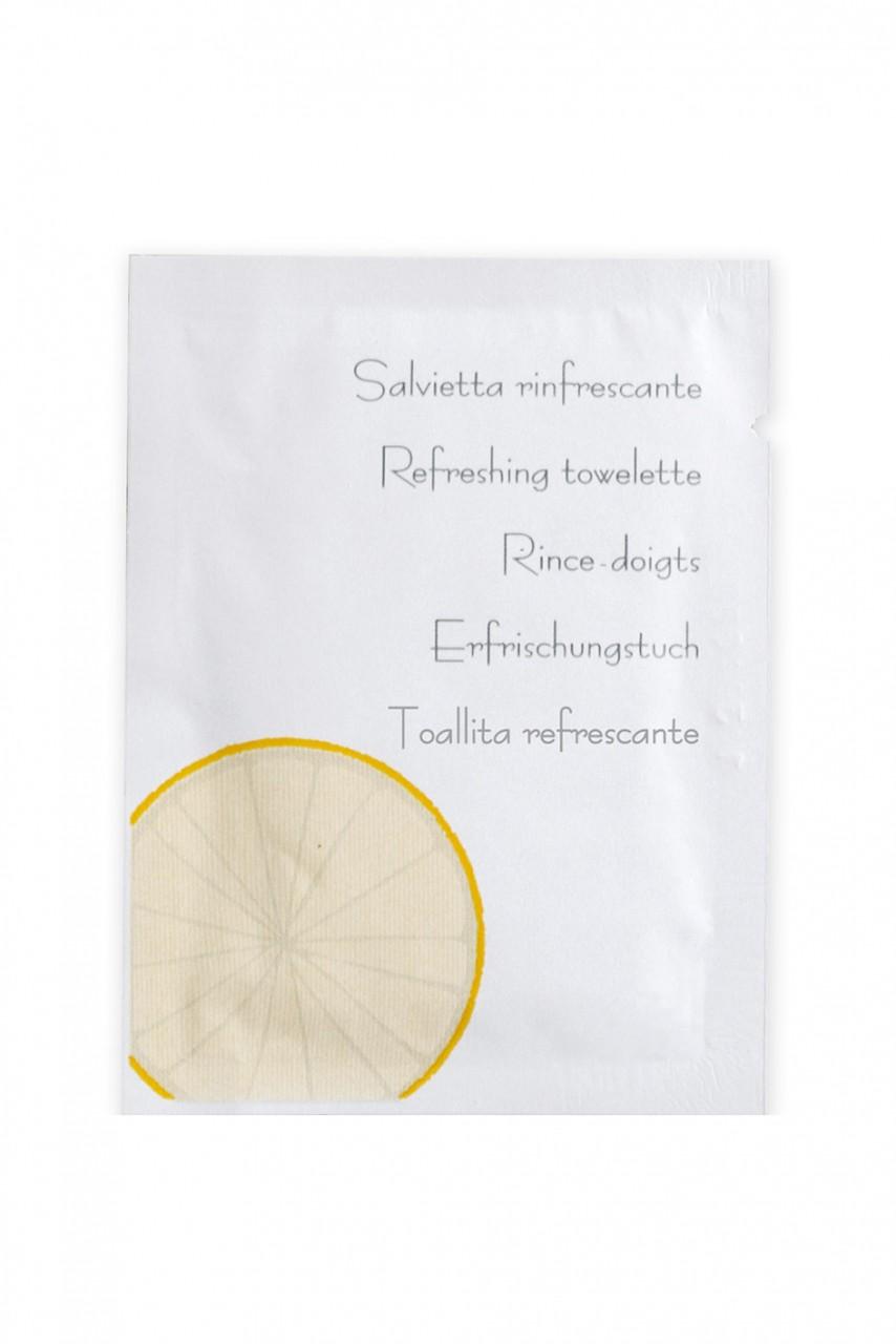Linea Neutra Erfrischungstuch mit Zitrone im Sachet mit Zitronen-Motiv