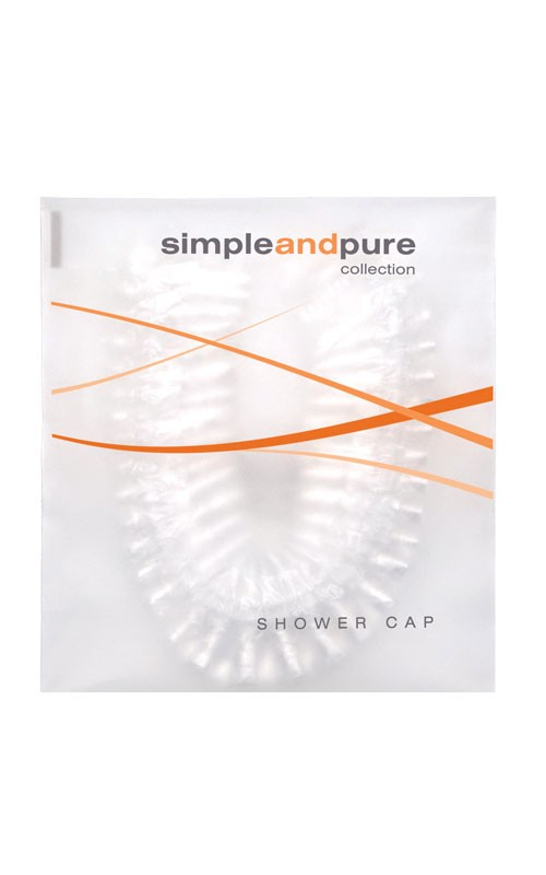 Simple and Pure Shower Cap in Flow-pack