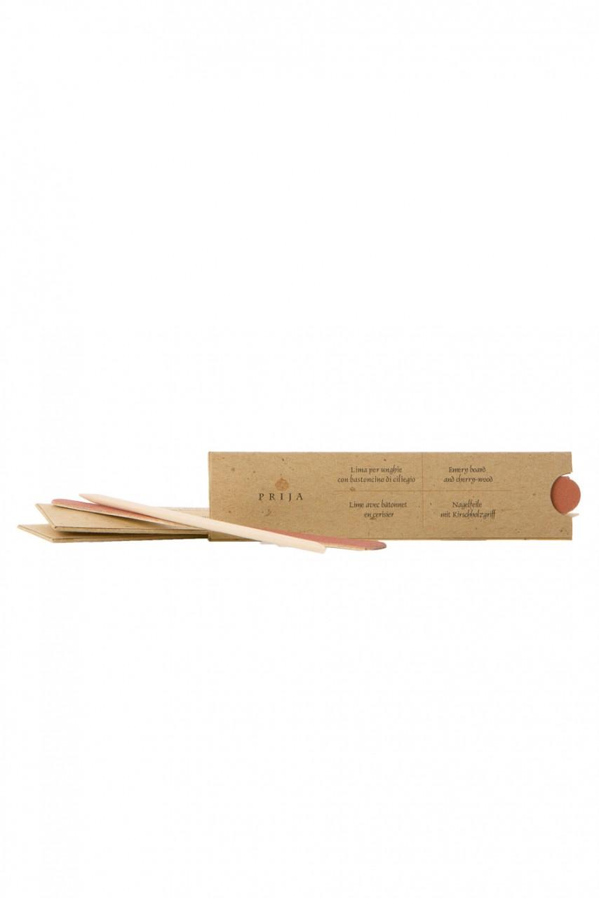 Nagelfeile mit Kirschholzstäbchen in der Recyclingkartonage