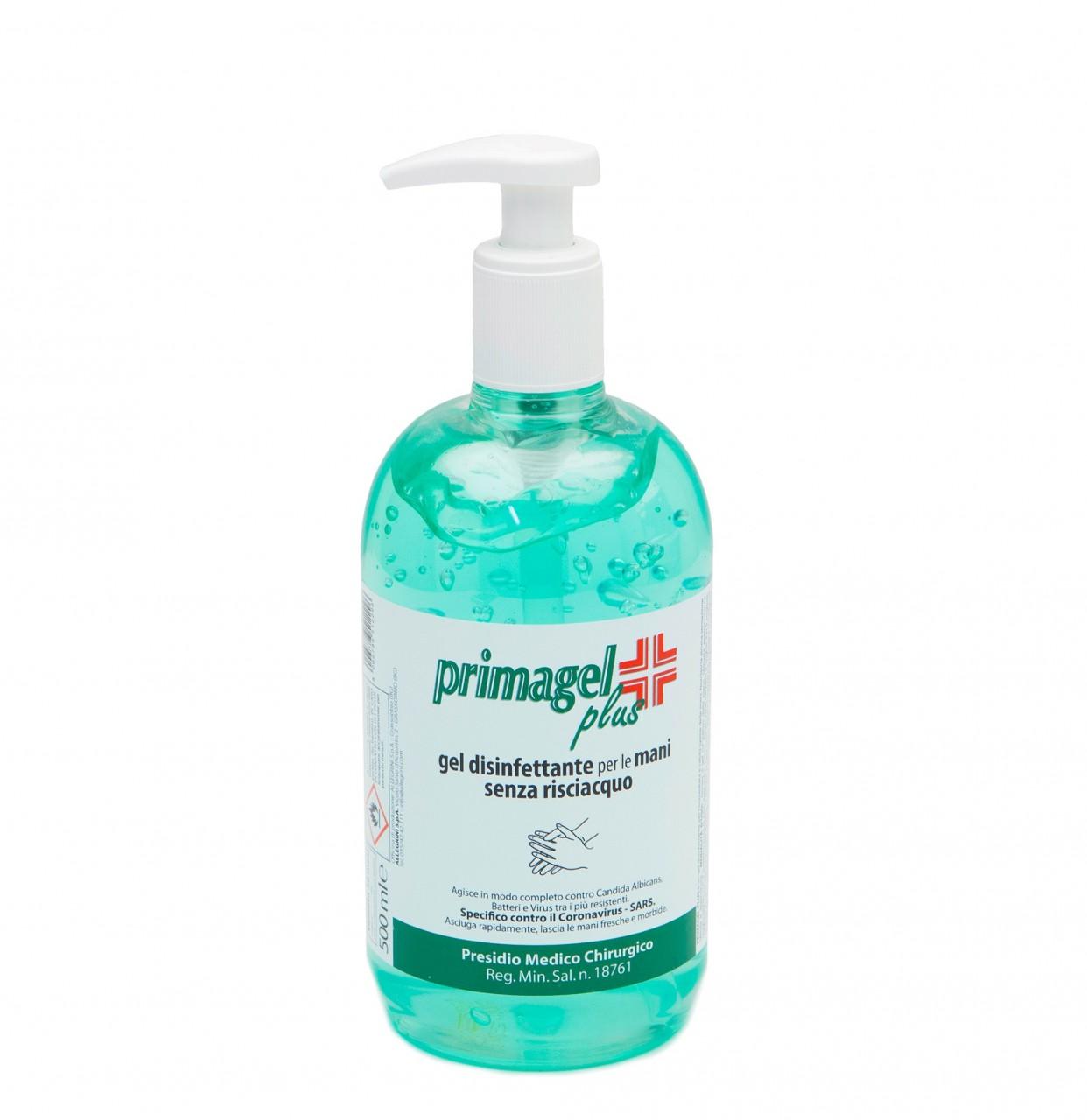 PRIMAGEL PLUS 500ml Desinfektionsgel im Pumpspender