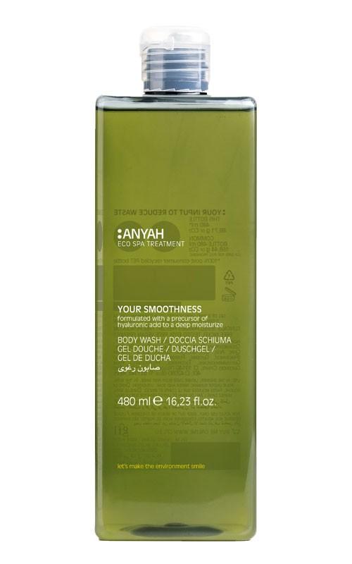 Anyah Samtige Flüssigseife 480ml Retail-Flacon mit Flip-Top-Verschluss