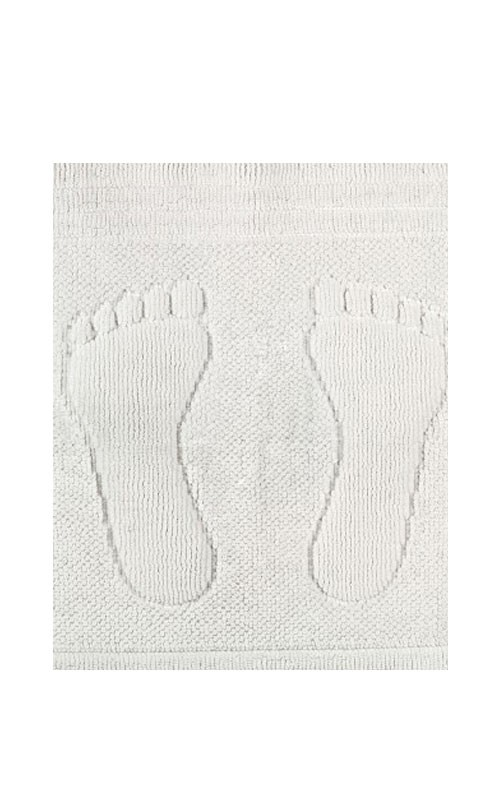 Badematte/Badevorleger mit eingewebtem Fußabdruck