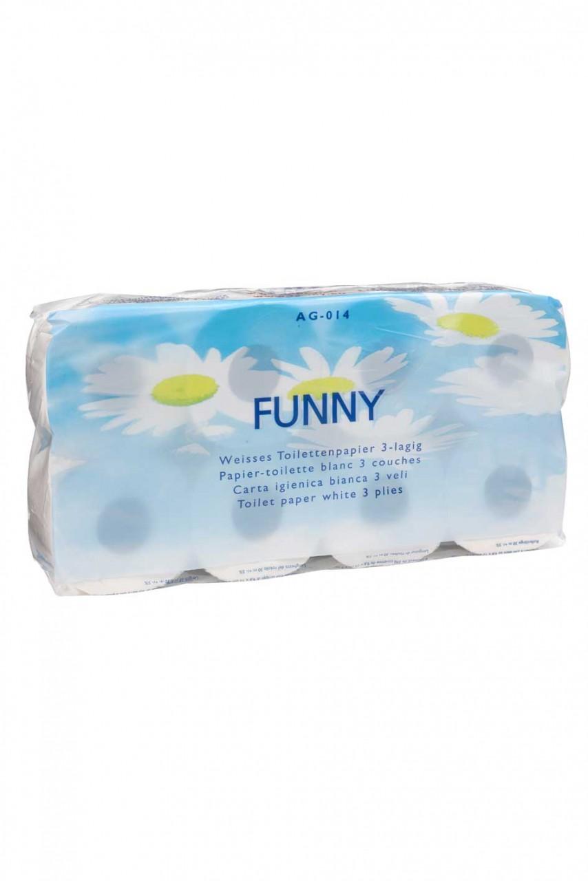 Toilettenpapier 250 Blatt - 3-lagig hochweiß