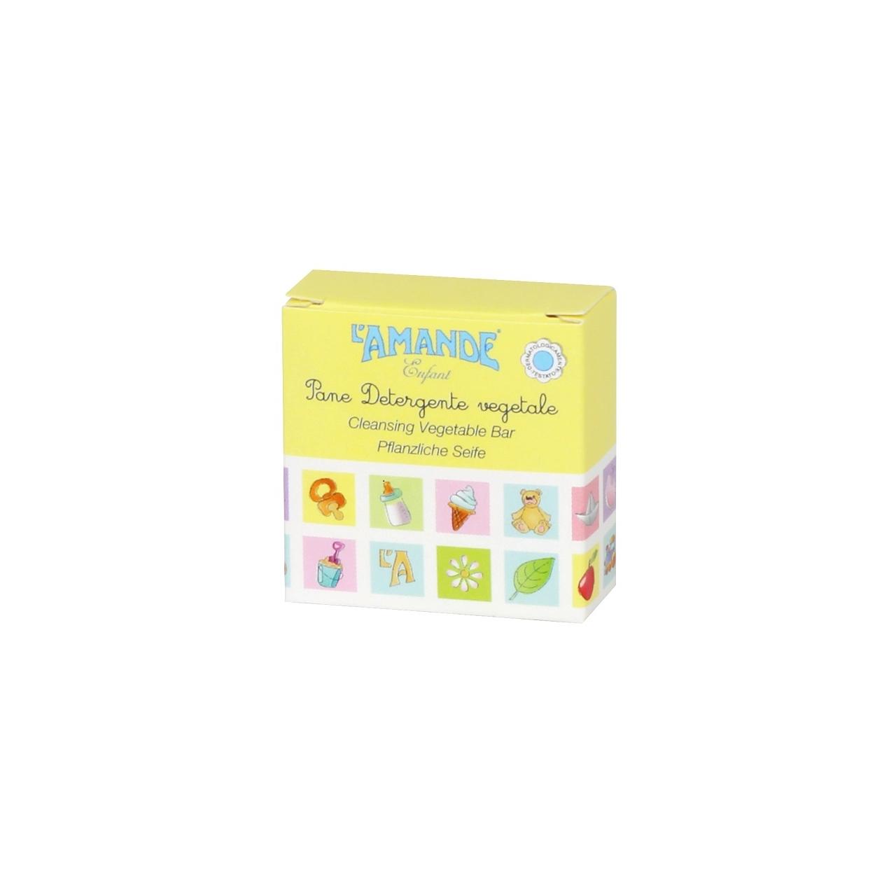 L'Amande Enfant Pflanzliche Seife für Kinder 20g in der Kartonage