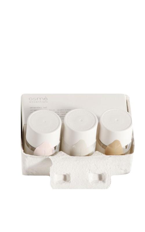 OSMÈ organic Eierkartonschachtel-Box mit Hotelkosmetik+Accessoir