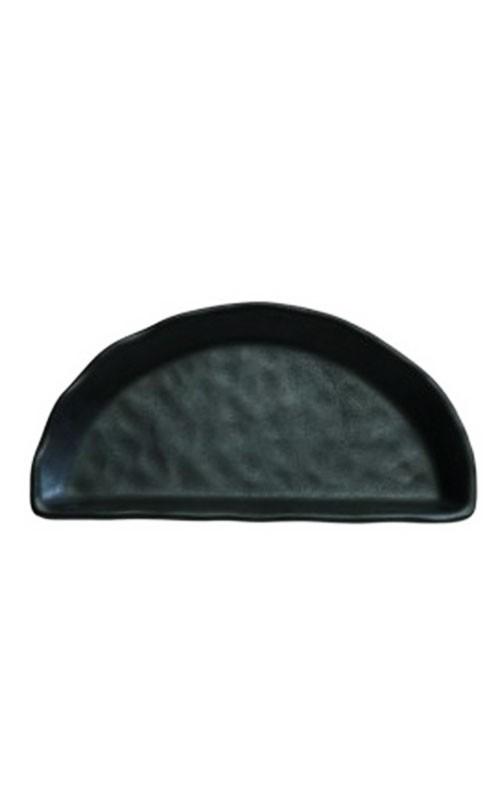 Tablett Steinoptik schwarz aus Melamin