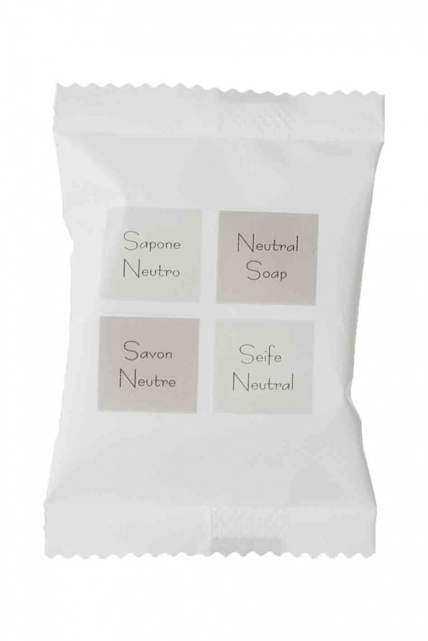 Linea Neutra Pflanzen-Seife 15g rund im weissem Papierflowpack