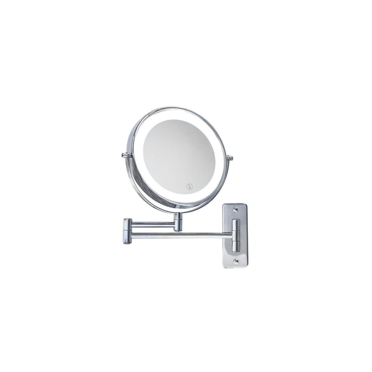 Kosmetikspiegel mit LED-Beleuchtung, Lupe 5-fach Vergrößerung